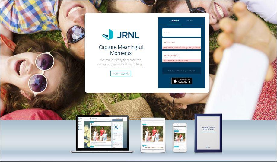 jrnl webite